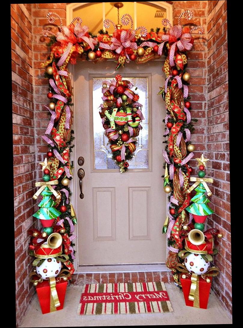 Christmas Front Door Porch Decorations