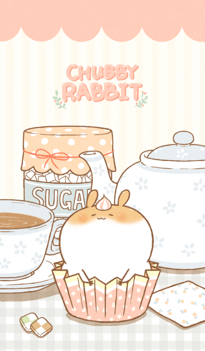Chubby Rabbit-Tea Time