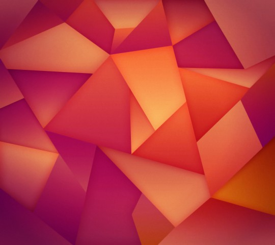 Orange Triangles Wallpaper