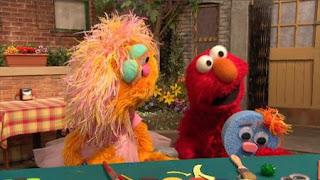 Elmo, Zoe, Sponge-arino, Sesame Street Episode 4322 Rocco's Playdate season 43