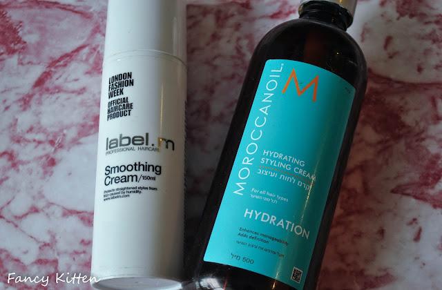 קרם לחות לעיצוב השיער של Maroccan oil , Smoothing Cream של Label.m