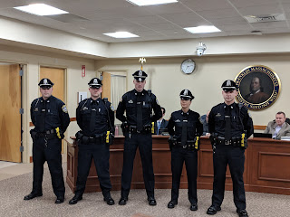 five new police officers introduced