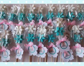 brochetas de jabón flores glicerina