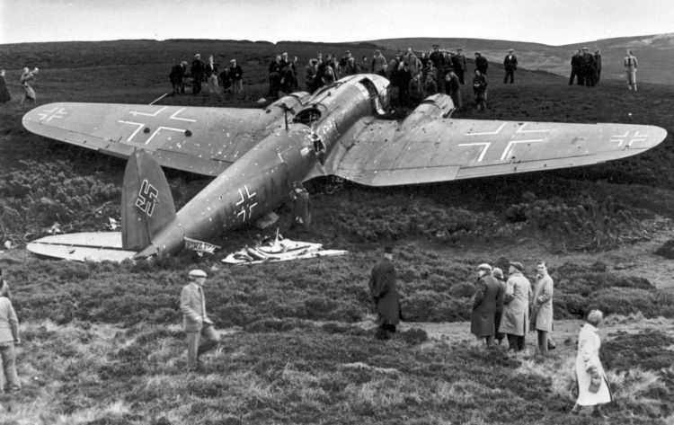 October 16 1939 worldwartwo.filminspector.com Heinkel He 111 Humble Scotland