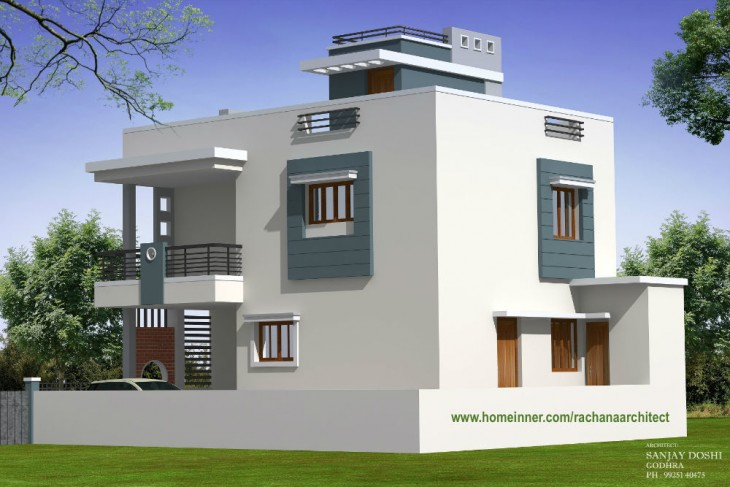 Modern Low Cost Gujarat Home Design by Rachana on