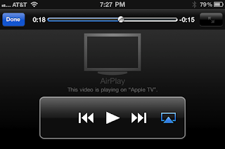 Airplay option on iPhone