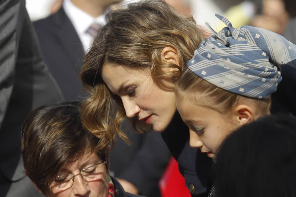Queen Letizia of Spain visit Exemplary Town of Colombre, a village that was honoured as the best Asturian village