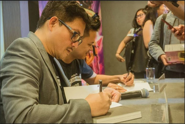 Segundo Matias Jr. and Jomike Tejidas , Moymoy Lulumboy Book 5 launch