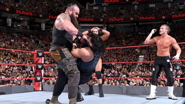 Universal Champion Roman Reigns & Braun Strowman def. Dolph Ziggler & Drew McIntyre