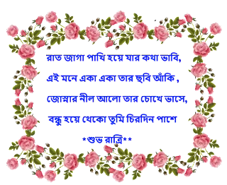 Suvo Ratri Bengali Sms -Best Bangla Good Night SMS And Photo