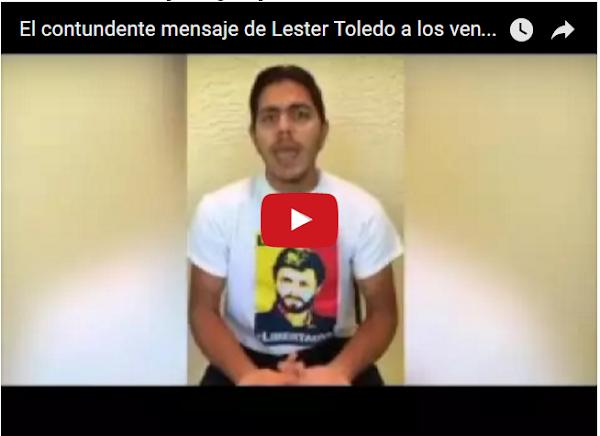 Lester Toledo envía mensaje desde la clandestinidad