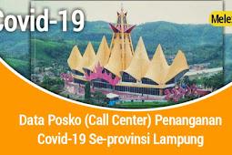 Data Posko (Call Center) Penanganan Covid-19 Se-provinsi Lampung