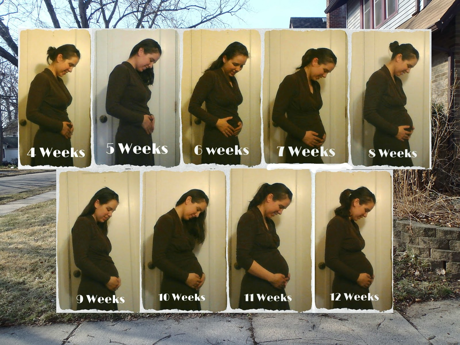 12 Week Picture Progression and some rambling on pregnancy tummy muscles