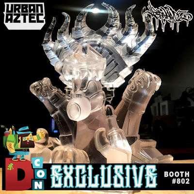 Designer Con 2017 Exclusive Crystal Clear Ozomahtli Resin Figure by Jesse Hernandez