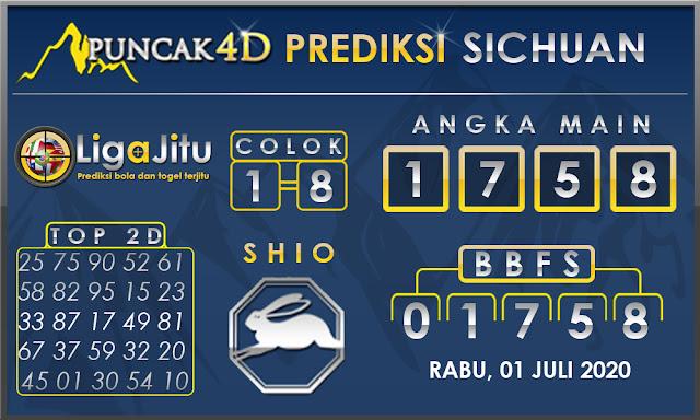 PREDIKSI TOGEL SICHUAN PUNCAK4D 01 JULI 2020
