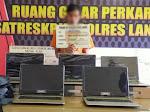 Sat Reskrim Polres Langsa Ungkap Pencuarian Laptop Di SMP Negri 3 Langsa