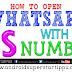 HOW TO OPEN WHATS APP WITH US NUMBER TUTORIAL | ANDROID SUPERSTARS