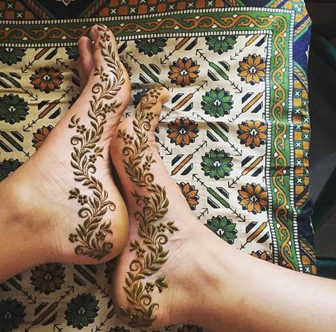 Foot Mehandi Design 5