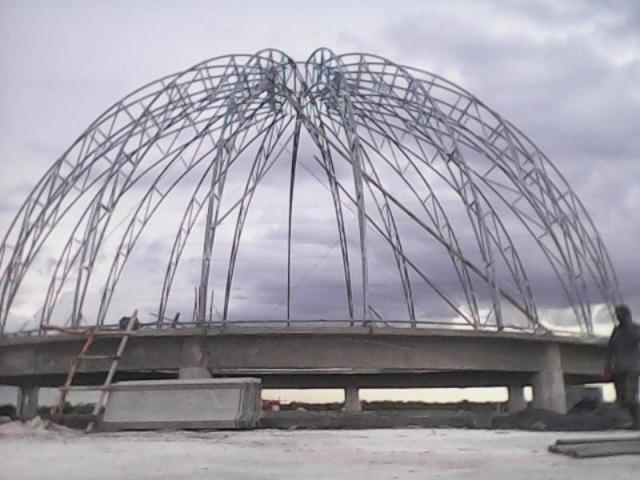 konstruksi kubah masjid