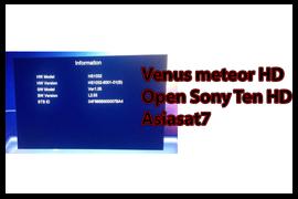 Receiver Venus Meteor HD Open Sony Ten HD asiasat7