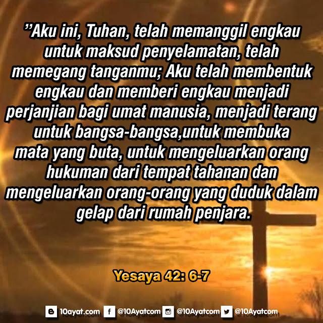 Yesaya 42: 6-7