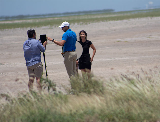 One of several photo crews that were in the Boca Chica area (Source: Palmia Observatory)