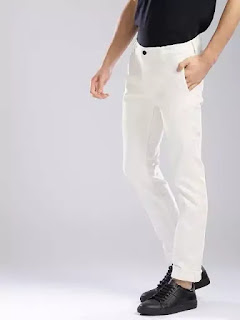 White jeans with black shoes