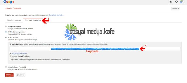 Google Webmaster URL Gönderme