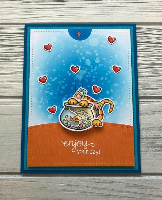 Interactive Newton Card by June Guest Designer Megan Quinn | Newton's Summer Vacation Stamp Set by Newton's Nook Designs #newtonsnook #handmade