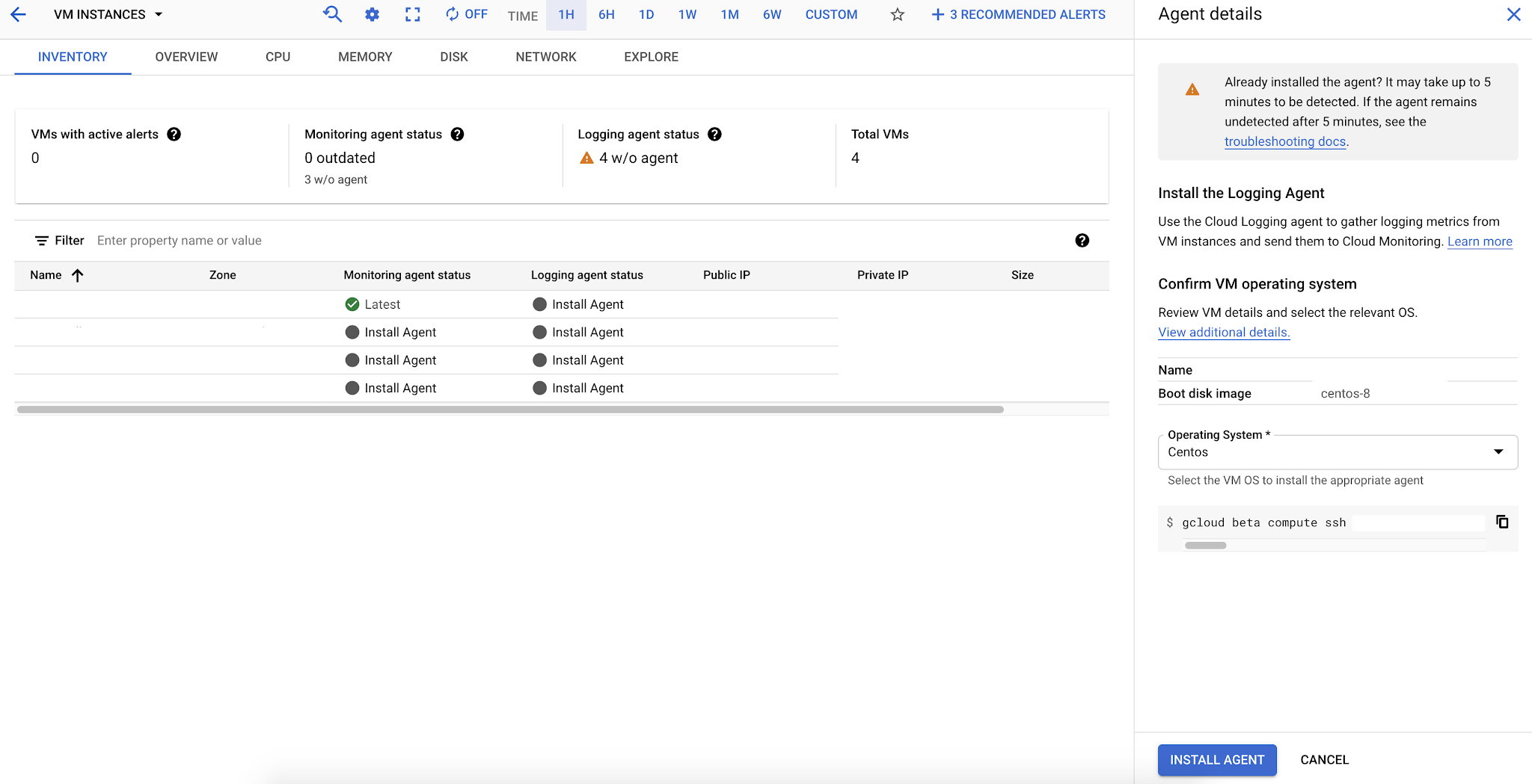 Google Cloud Logging - Cloud Logging Agent Installation