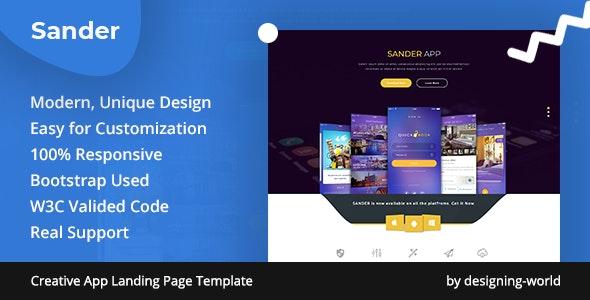 Responsive App Landing Page Template