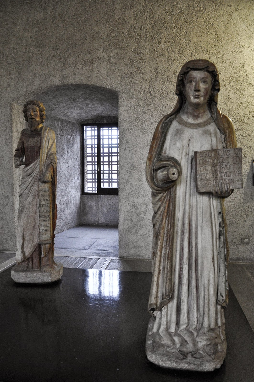 Medieval statues in the Museum of Castelvecchio in Verona