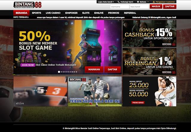 Bintang88 Situs Judi Online dengan Bonus Slot Game 50%