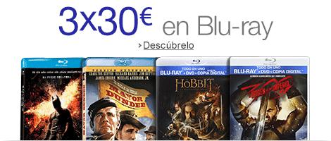 3X30€ en Blu-Ray de AMAZON