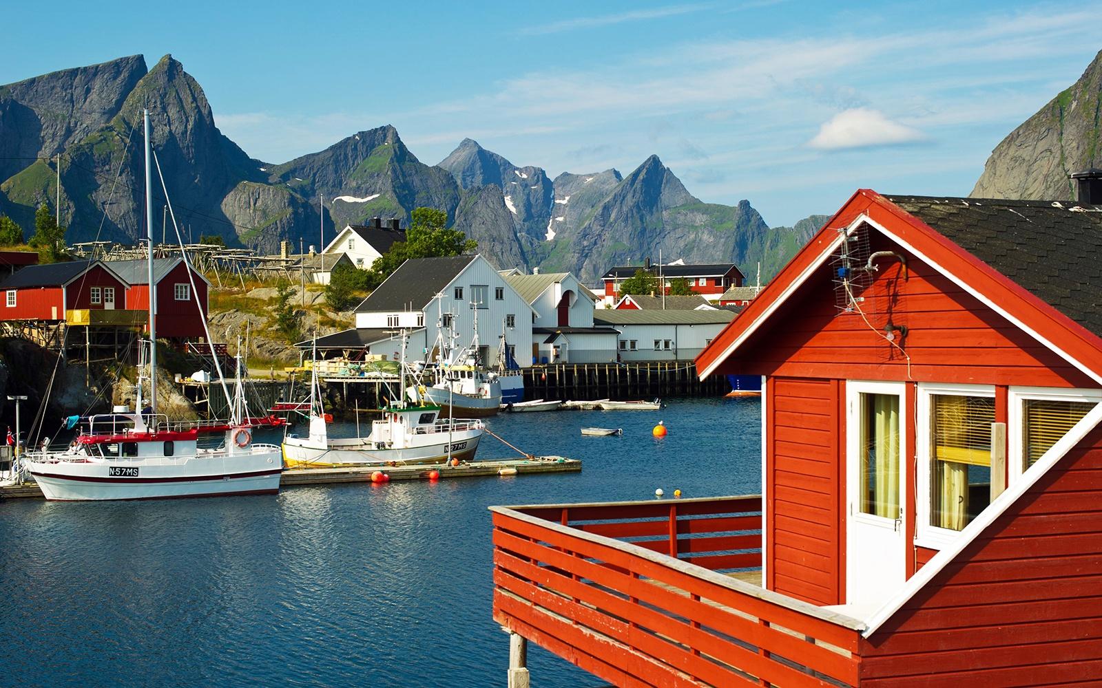 Рейне в Норвегии, берег