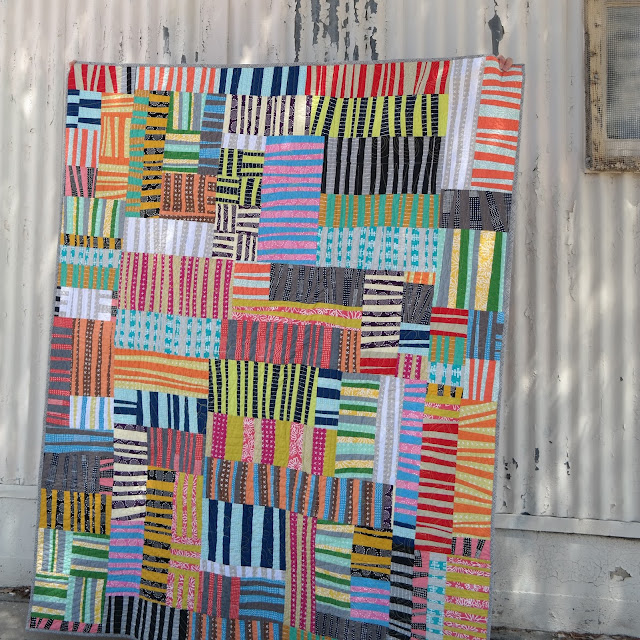 improv stripes quilt