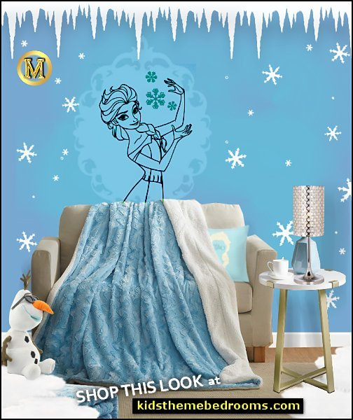 frozen elsa bedroom disney elsa decorating ideas winter faux fur blankets elsa wall decal glam table lamp  Queen Elsa of Arendelle Sticker Frozen Disney Princess Wall Decal