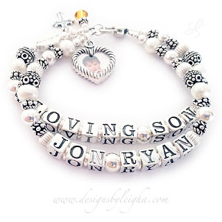 Cool Design Pearl & Sterling Silver Mother and Grandmother Bracelets