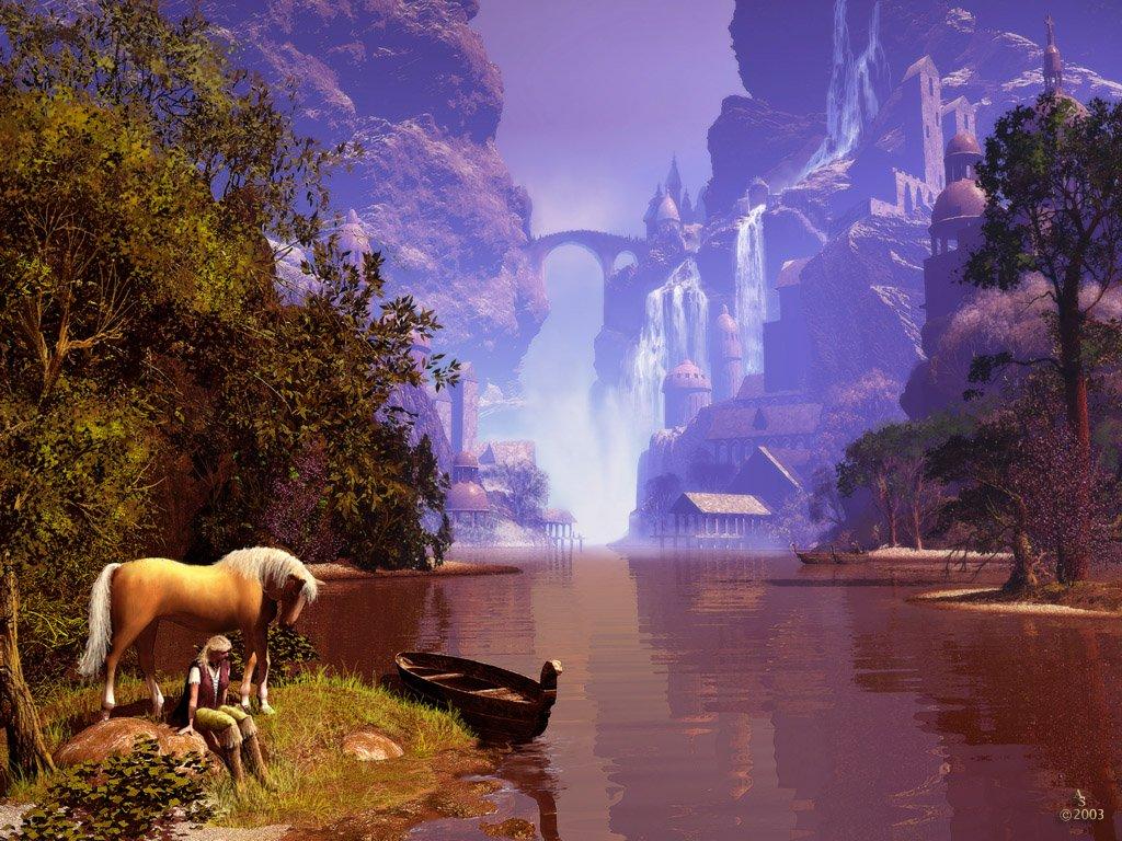 Fond ecran paysage fantastique fond ecran pc for Fond ecran gratuit animaux