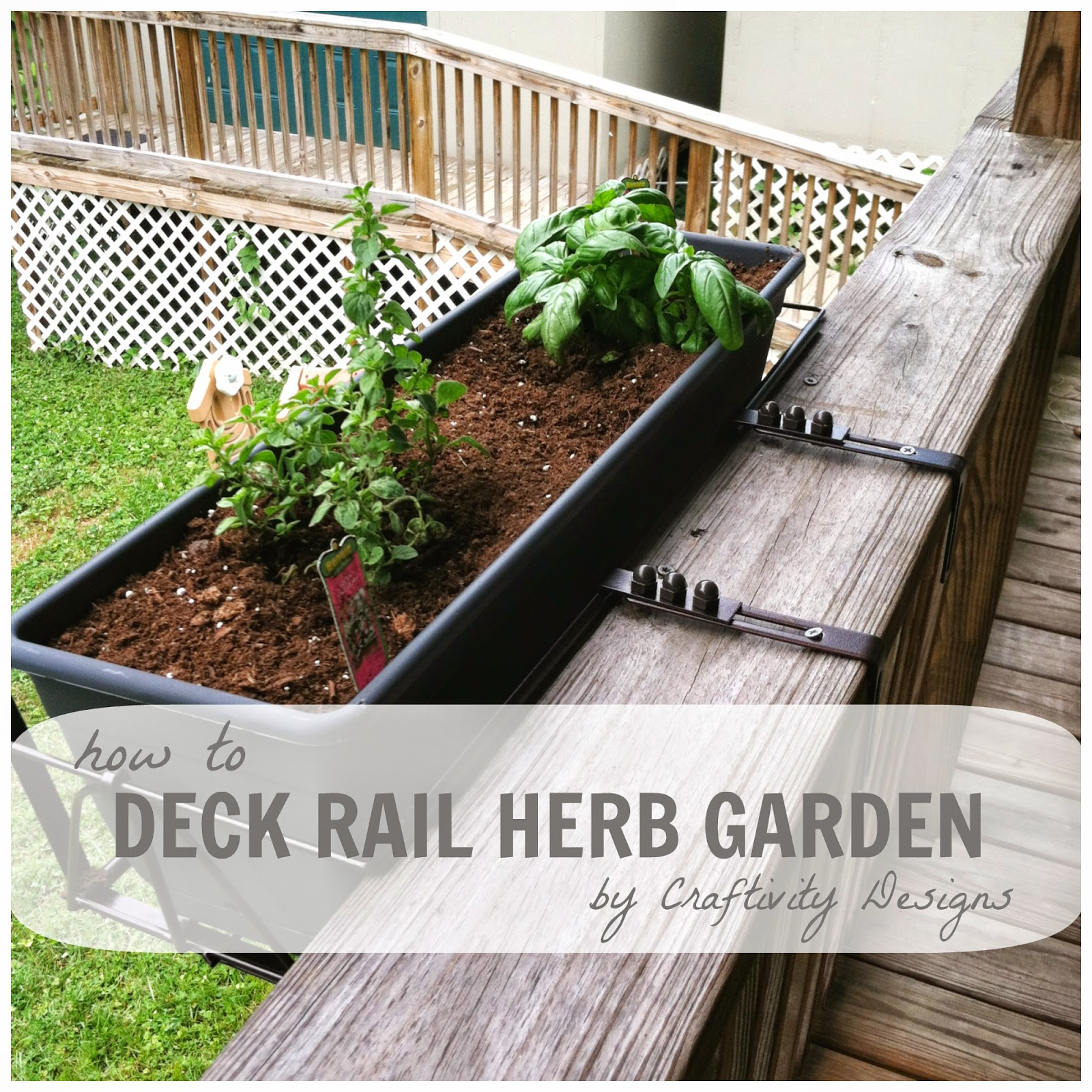 32 Best Deck Rail Planters Images On Pinterest: How To // A Deck Rail Herb Garden