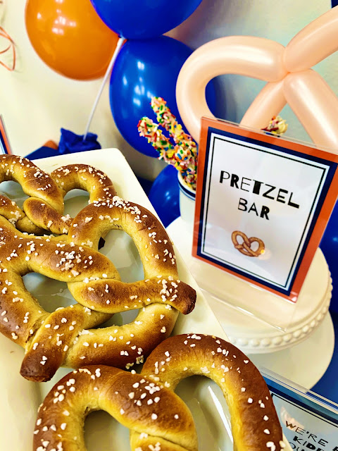 Pretzel Bar Party @michellepaigeblogs.com