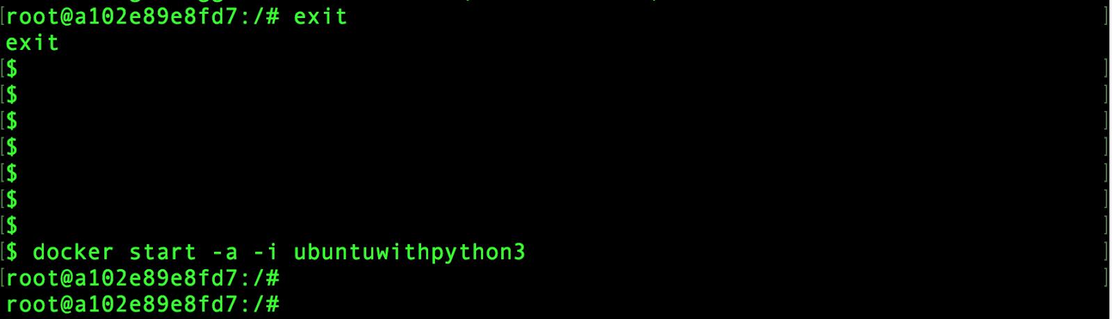 run apt-get install python3 docker