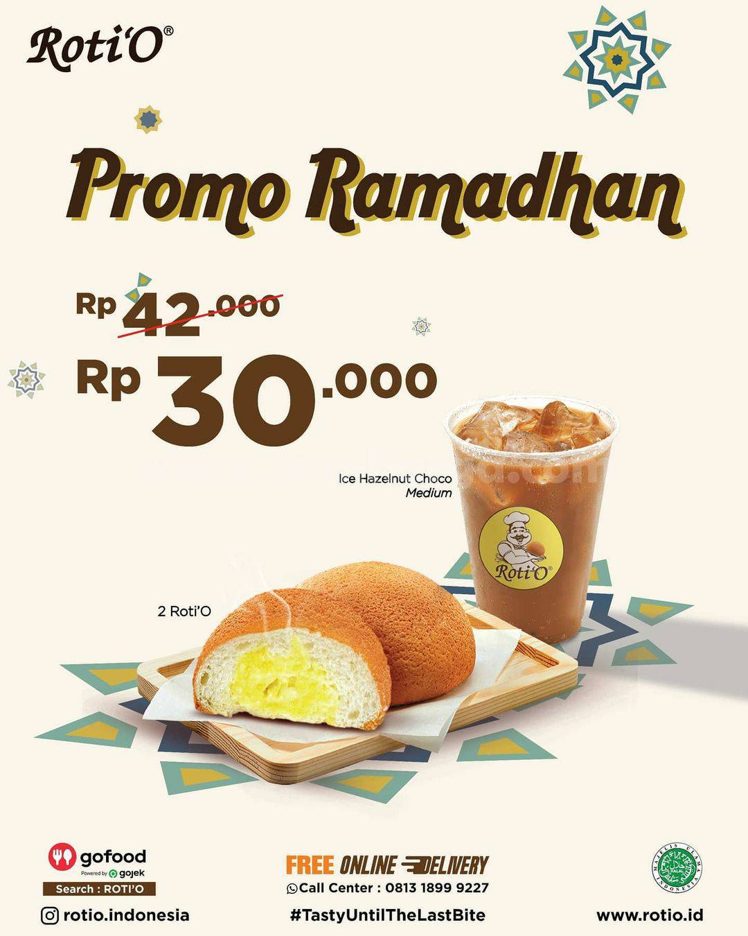 ROTI'O Promo RAMADHAN - Beli 2 Roti'O + Ice Hazelnut Chocolate cuma Rp 30.000