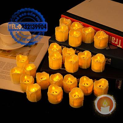 Đèn cầy led tealight tim lắc lư