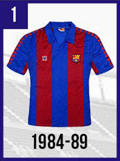 new styles 3258d 2990a Full FC Barcelona Home & Away Kit History - Including 80+ ...