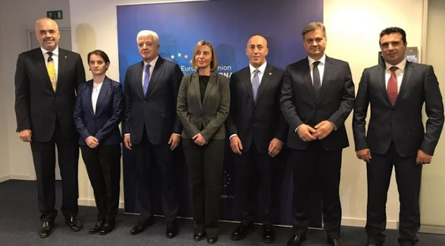 Mogherini and Western Balkan Prime Ministers