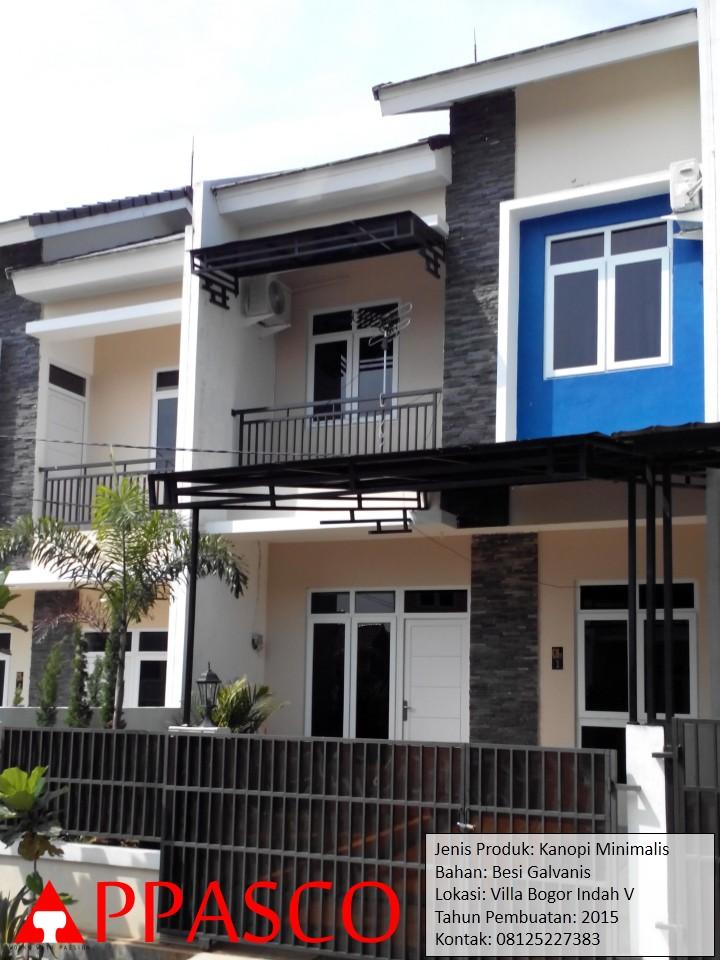 Kanopi Minimalis di Villa Bogor Indah