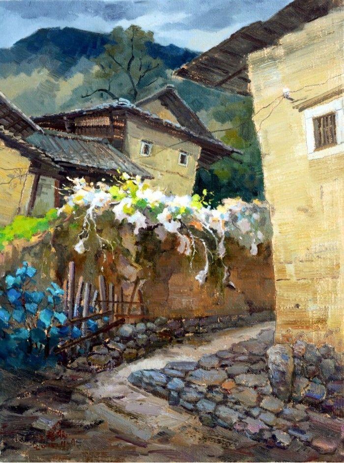Картины маслом. Jiang Zi