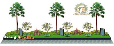 desain taman luar rumah
