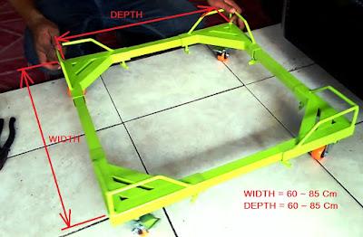 Troli Dudukan Lemari Es 1 Pintu dan 2 Pintu - Moveable Floor Refrigerator Trolly Stand 1 Door 2 Doors